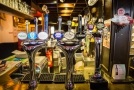 Selections of beers on tap.