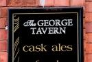 "Sign on a pub in Oldham. ""George Tavern"""
