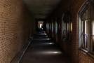 Hallway between buildings