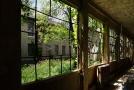 The hallways were like ells leading off from a main part of the building. The window side faced another ell. The outer side faced the Hudson River