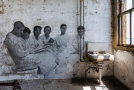 Wall mural - dressed in robes as if in a spa
