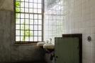 Bathroom with large window
